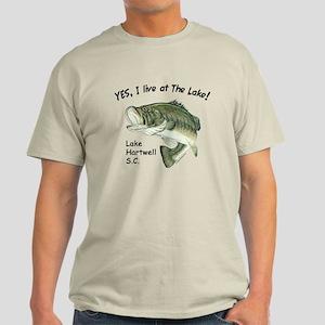 Lake Hartwell SC bass Light T-Shirt