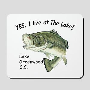 Lake Greenwood SC bass Mousepad