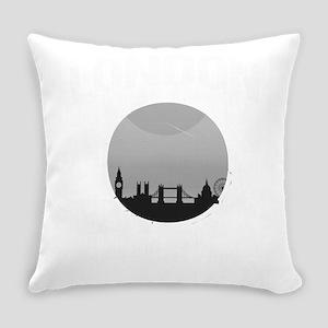 London is Calling City Skyline Gra Everyday Pillow
