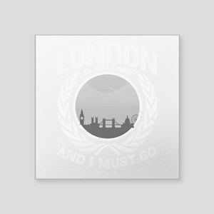London is Calling City Skyline Gray Sticker
