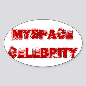 Myspace Shirts Oval Sticker