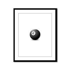 eight ball Framed Panel Print
