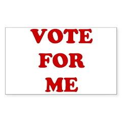 Vote For Me Rectangle Sticker 50 pk)