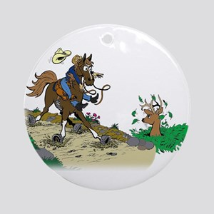 Trail Horse and Deer