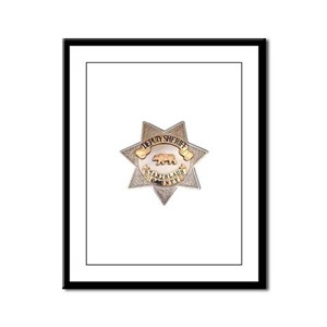 Stanislaus County Sheriff Framed Panel Print