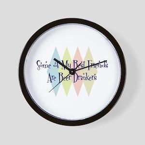 Beer Drinkers Friends Wall Clock