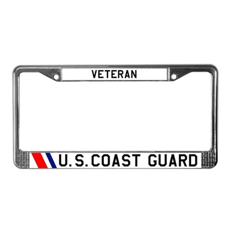 USCG Veteran License Plate Frame