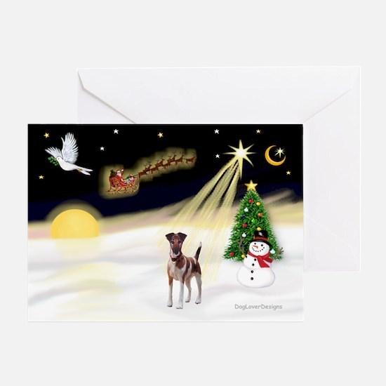 Night Flight/Fox Terrier Greeting Card