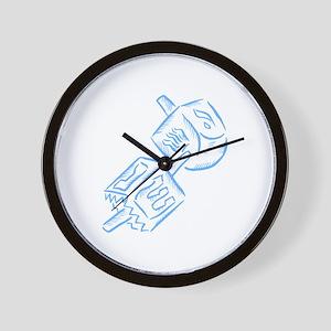 Dreidels Wall Clock