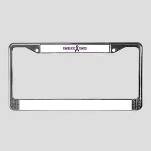 Pancreatic Cancer License Plate Frame