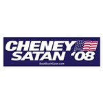 """Cheney-Satan '08"" Bumper Sticker (10)"