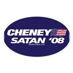 """Cheney-Satan '08"" Oval Sticker (10)"