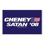 """Cheney-Satan '08"" Rect Sticker (50)"