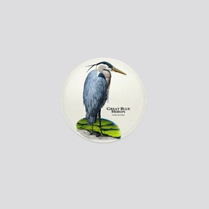 Great Blue Heron Mini Button