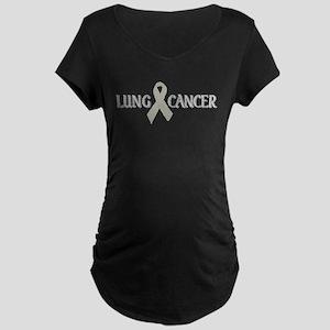 Lung Cancer Maternity Dark T-Shirt