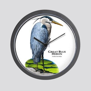 Great Blue Heron Wall Clock