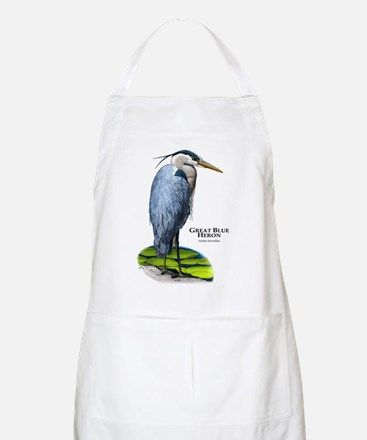 Great Blue Heron BBQ Apron