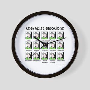 therapist emotions Wall Clock