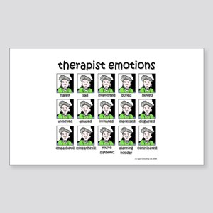 therapist emotions Rectangle Sticker