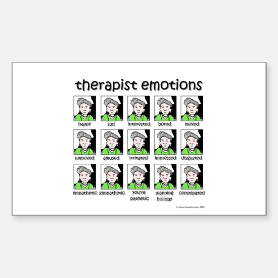 therapist emotions Rectangle Decal