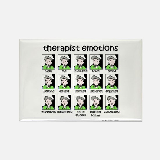therapist emotions Rectangle Magnet