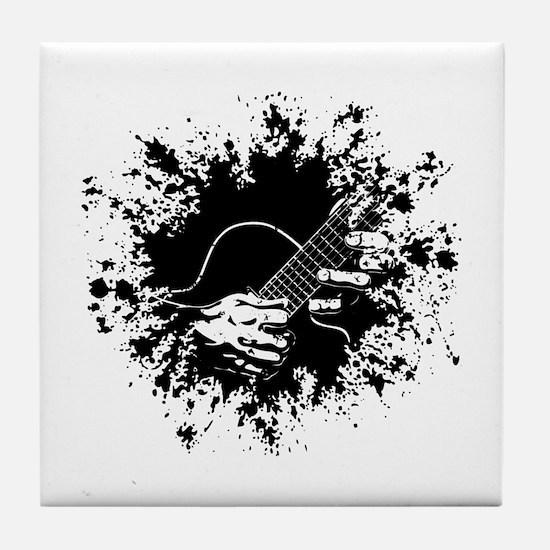 Guitar Hands II -splat Tile Coaster