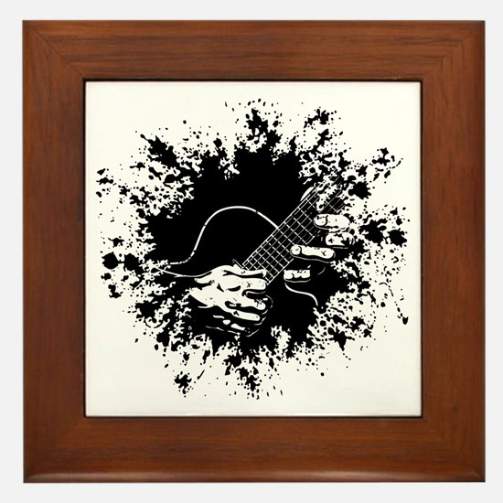 Guitar Hands II -splat Framed Tile