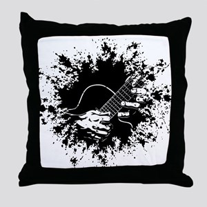 Guitar Hands II -splat Throw Pillow