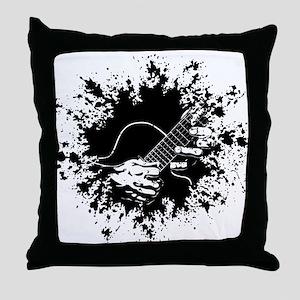 Guitar Hands II -splat Throw Pillow