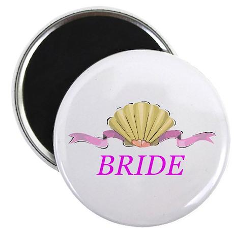 Bride Heart Clamshell Magnet