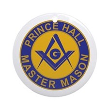 Prince Hall Master Masons Ornament (Round)
