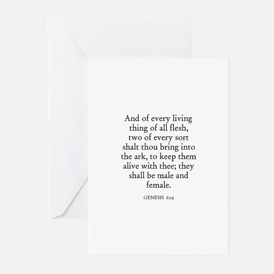 GENESIS  6:19 Greeting Cards (Pk of 10)