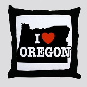 I Love Oregon Throw Pillow