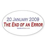 """End of an Error"" Oval Sticker (50)"