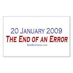 """""""End of an Error"""" Rect Sticker (10)"""
