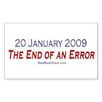 """""""End of an Error"""" Rect Sticker (50)"""