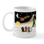 Night Flight/4 Poodles Mug