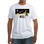 Night Flight/4 Poodles Fitted T-Shirt