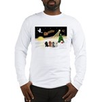 Night Flight/4 Poodles Long Sleeve T-Shirt