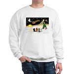 Night Flight/4 Poodles Sweatshirt
