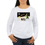 Night Flight/4 Poodles Women's Long Sleeve T-Shirt