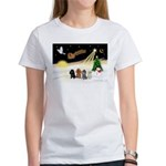Night Flight/4 Poodles Women's T-Shirt