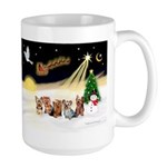 Night Flight/5 Yorkies Large Mug