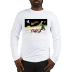 Night Flight/5 Yorkies Long Sleeve T-Shirt
