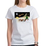 Night Flight/5 Yorkies Women's T-Shirt