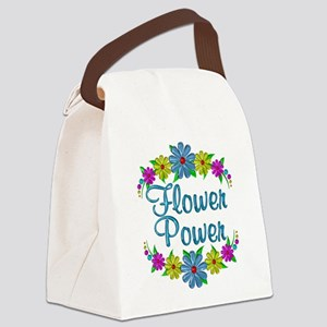 Flower Power Flowers Canvas Lunch Bag