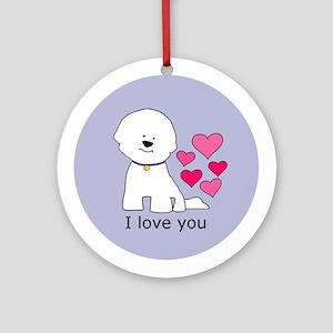 Bichon I Love You Ornament