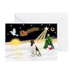 Night Flight/Eng Springer Greeting Cards(Pk of 20)