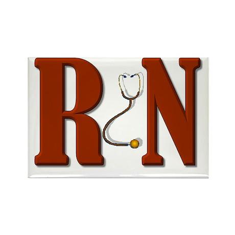 Dark RN Rectangle Magnet (100 pack)