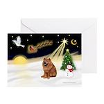 Night Flight/Chow #2 Greeting Cards (Pk of 10)